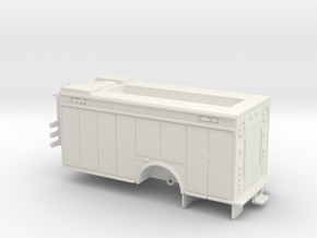 1/87 Pierce DC HazMat Body DP roof  in White Natural Versatile Plastic