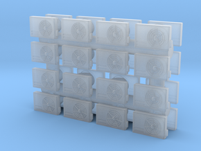Air Conditioning Unit (x32) 1/144 in Smooth Fine Detail Plastic