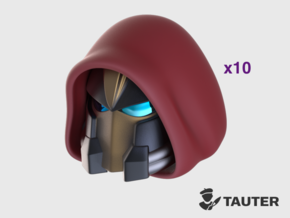 Hooded - Vanguard Helmets in Smooth Fine Detail Plastic: Medium