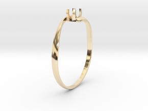 Engagement Ring Version 1 in 14K Yellow Gold