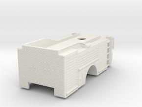 1/87 Single Axle Rear Mount Ladder body in White Natural Versatile Plastic