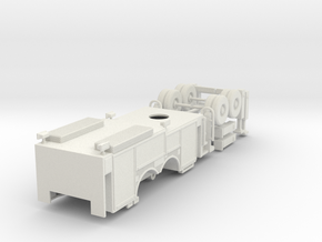 1/87 Mill Creek Ladder Body Rollup Doors V1 in White Natural Versatile Plastic