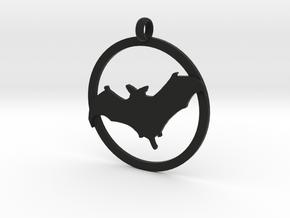 Bat awareness charm in Black Natural Versatile Plastic