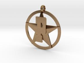 PHS charm - Plains Star in Natural Brass