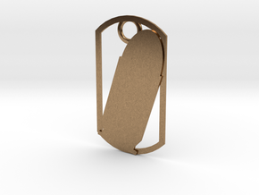45 Auto (ACP) dog tag in Natural Brass