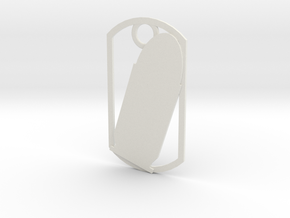 45 Auto (ACP) dog tag in White Natural Versatile Plastic