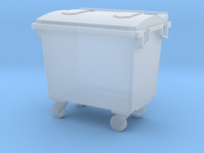 1/43 Grande Poubelle / big wheelie bin in Smooth Fine Detail Plastic