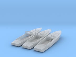 1/144th 3 x PG-117 motor boat in Smooth Fine Detail Plastic