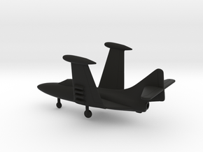 Grumman F9F-5 Panther (folded wings) in Black Natural Versatile Plastic: 1:160 - N