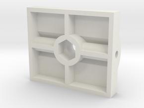 Ram TEE draaipunt. Scale 0 (1:45) in White Natural Versatile Plastic