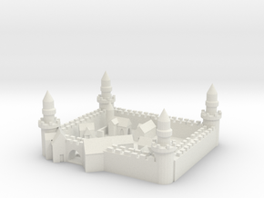 Medieval City in White Natural Versatile Plastic