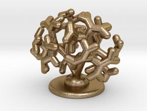 Embryonic kidney desk model in Polished Gold Steel: Medium