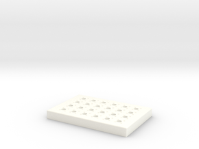Magnetic Concentrator For 96-Well Plates in White Strong & Flexible Polished
