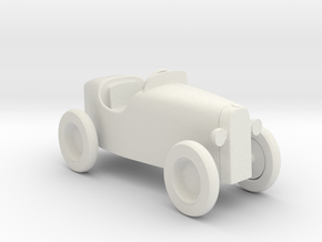Miniature 1:12 Dollhouse Car in White Natural Versatile Plastic: 1:12
