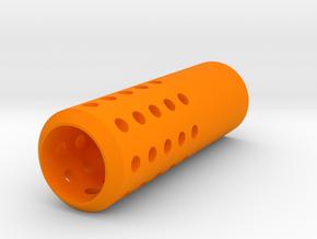 HMP Type I Muzzle (150mm) for Nerf Modulus in Orange Processed Versatile Plastic