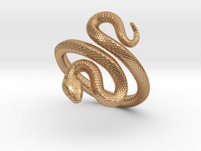 Snake Bracelet_B02 in Polished Bronze: Medium