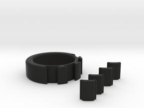 MEMO Ring in Black Natural Versatile Plastic
