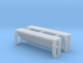 Folded Bed Lift Gate UP Position 1-50 Scale 2 Pack in Smooth Fine Detail Plastic
