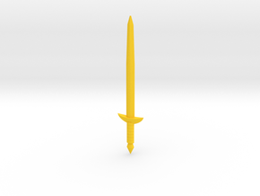Knight Sword of Becames Robert in Yellow Processed Versatile Plastic