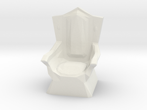 Miniature Throne in White Natural Versatile Plastic