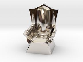 Miniature Throne in Platinum