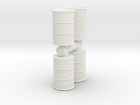 Oil Barrel (x4) 1/64 in White Natural Versatile Plastic