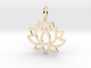 Lotus Flower in 14K Yellow Gold