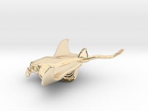 Manta Ray Pendant in 14K Yellow Gold