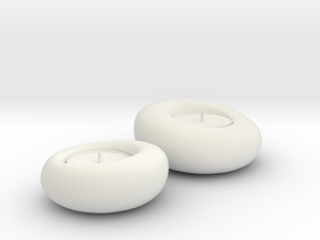 Decorative Candles in White Natural Versatile Plastic: Small