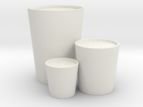 Decorative Candles Set in White Natural Versatile Plastic: Small