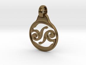 Aeon Tribe Logo Pendant in Natural Bronze