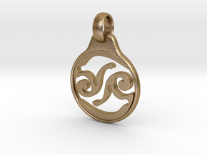 Aeon Tribe Logo Pendant in Polished Gold Steel