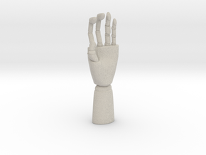 Modern Hand  Sculpture in Natural Sandstone: Small