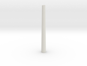 Factory Chimney 00 Scale in White Natural Versatile Plastic