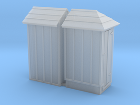 Two Illinois Terminal/Traction Phone Booths  in Smooth Fine Detail Plastic