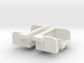 Tamiya Clodbuster Taillight Housing, 1 of 2 in White Natural Versatile Plastic