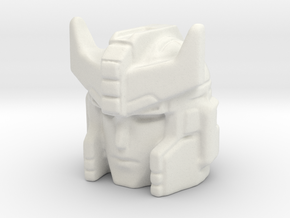 Siege Prowl head 18mm with 4mm click ball hole in White Natural Versatile Plastic