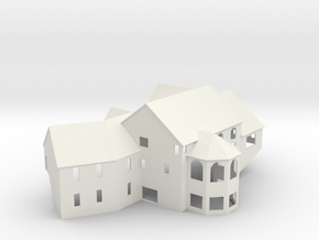 New England House - Zscale in White Natural Versatile Plastic