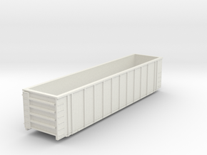 6000cf Wood chip Gondola J301 in White Natural Versatile Plastic