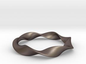 TorusKnot in Polished Bronzed-Silver Steel