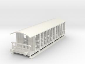 o-87-corringham-toastrack-coach in White Natural Versatile Plastic