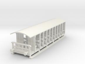 o-100-corringham-toastrack-coach in White Natural Versatile Plastic