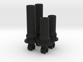 Nikko Dictator Shock Parts (Upper Half) in Black Natural Versatile Plastic