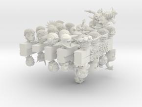 Head Series: Megapack #1 in White Natural Versatile Plastic