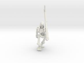 Skeleton Peasant - FREE DOWNLOAD! in White Natural Versatile Plastic