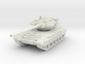 T-64 BV (late) 1/87 in White Natural Versatile Plastic