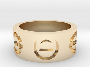 shapeways custom in 14K Yellow Gold