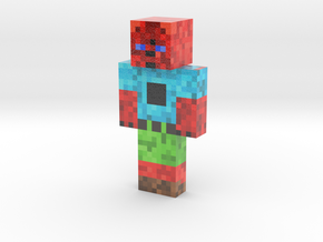 ace (1)   Minecraft toy in Glossy Full Color Sandstone