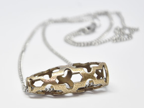 Maroque Pendant in Polished Bronzed-Silver Steel