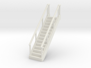Stairs 1/48 in White Natural Versatile Plastic